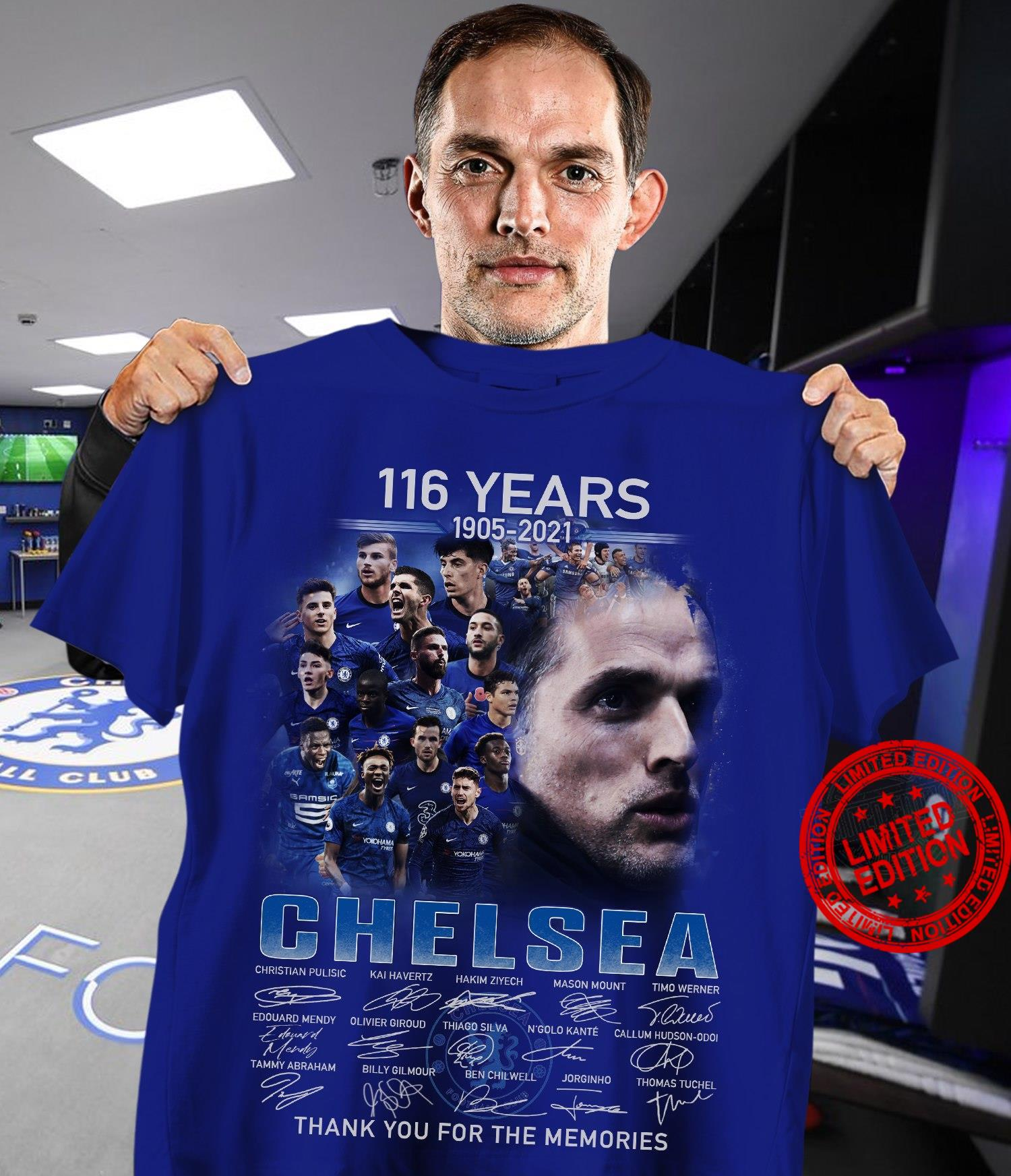116 Years 1905 2021 Chelsea Signatures Thank You For The Memories Shirt