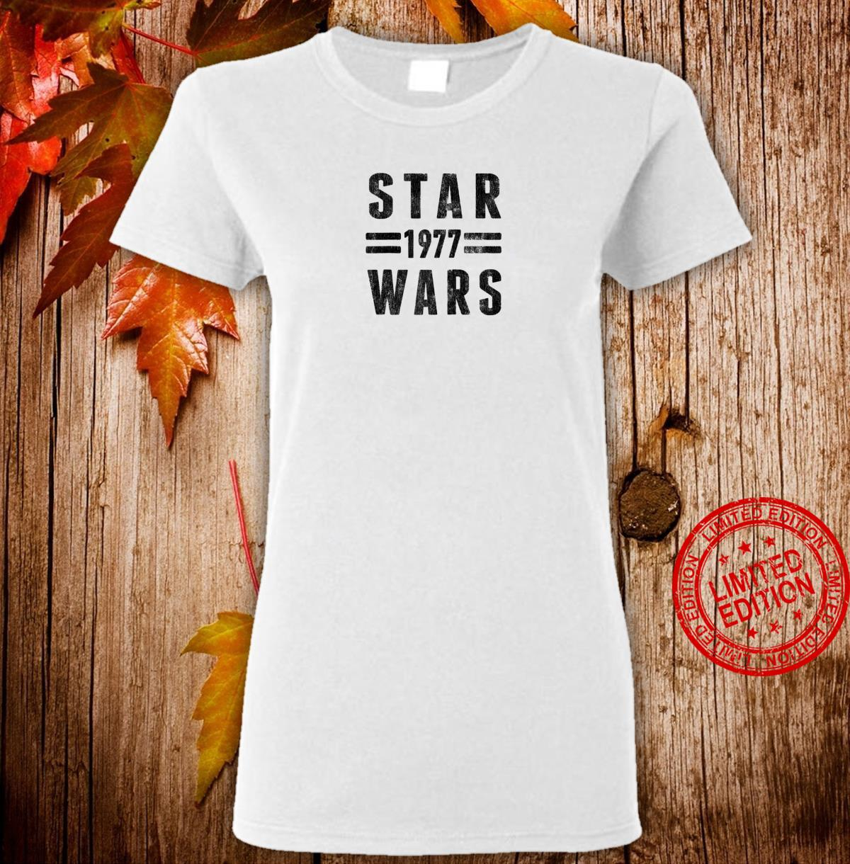 Star Wars 1977 Vintage Collegiate Retro Shirt ladies tee