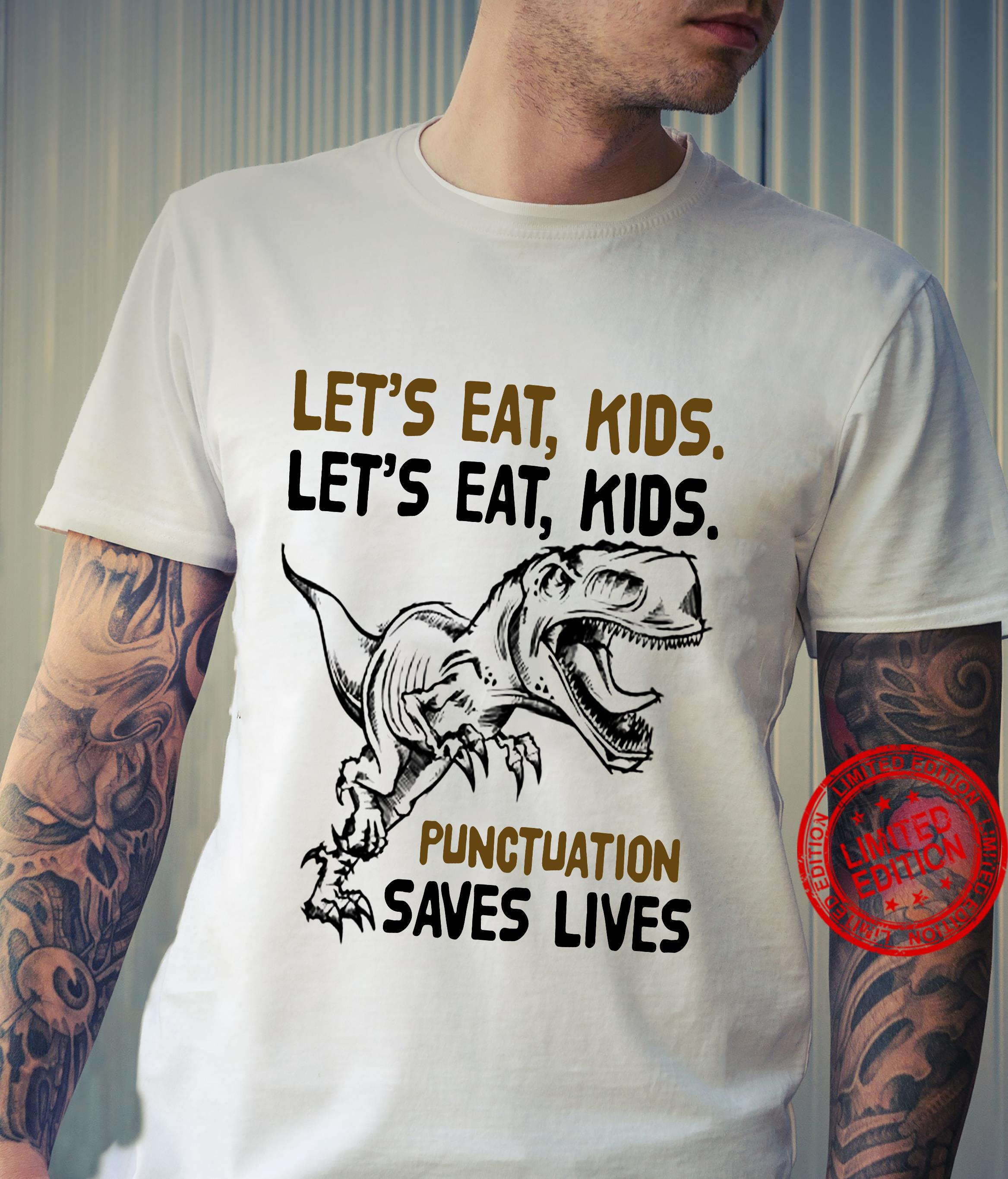 t-rex let eat kids punctuation saves lives