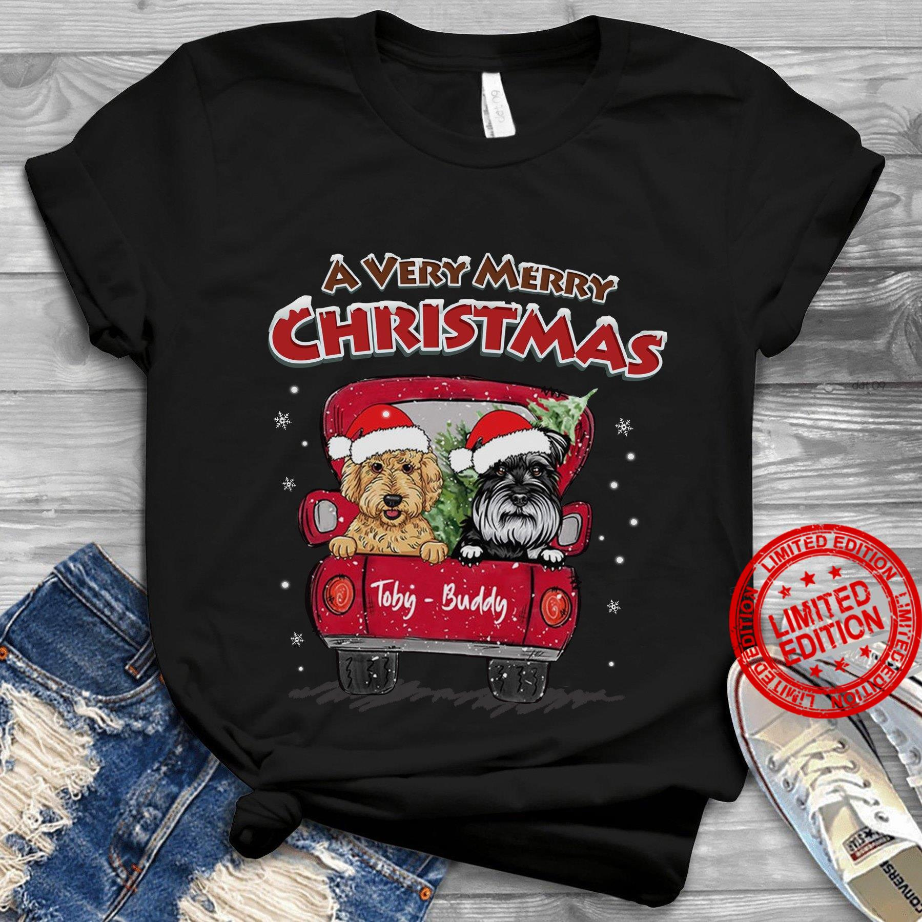 A Very Merry Christmas Toby Buddy Shirt