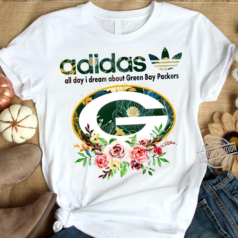 Adidas All Day I Dream About Green Bay Packers Shirt