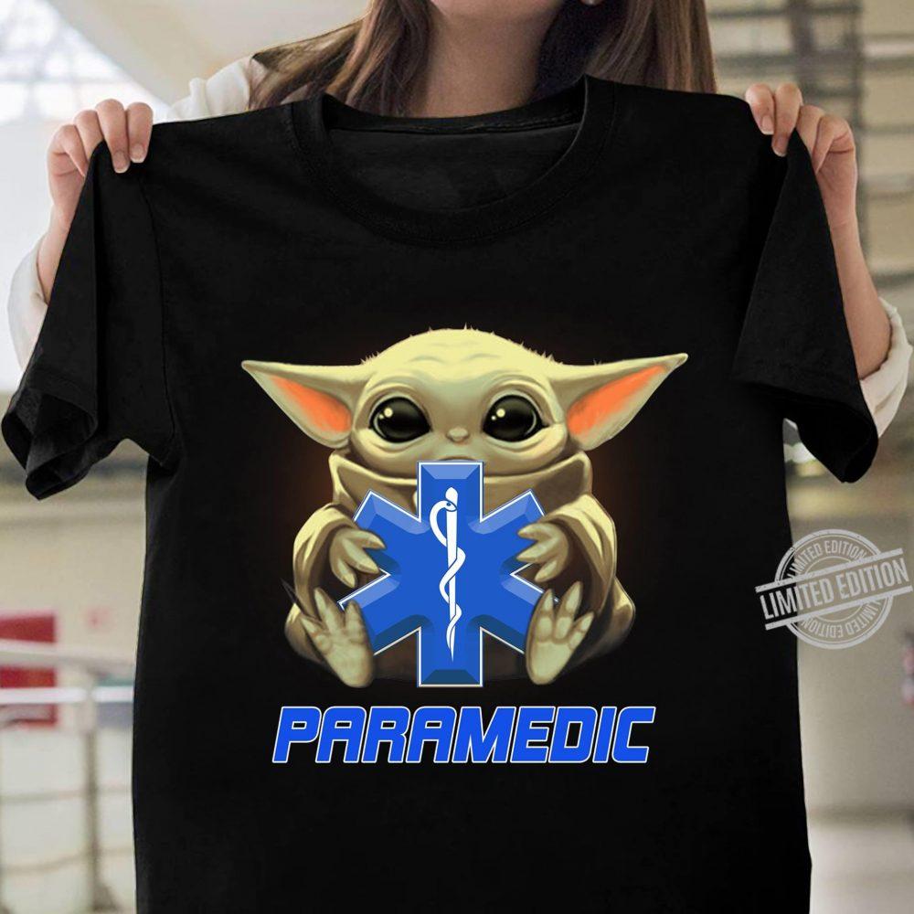 Baby Yoda And Paramedic Logo Shirt