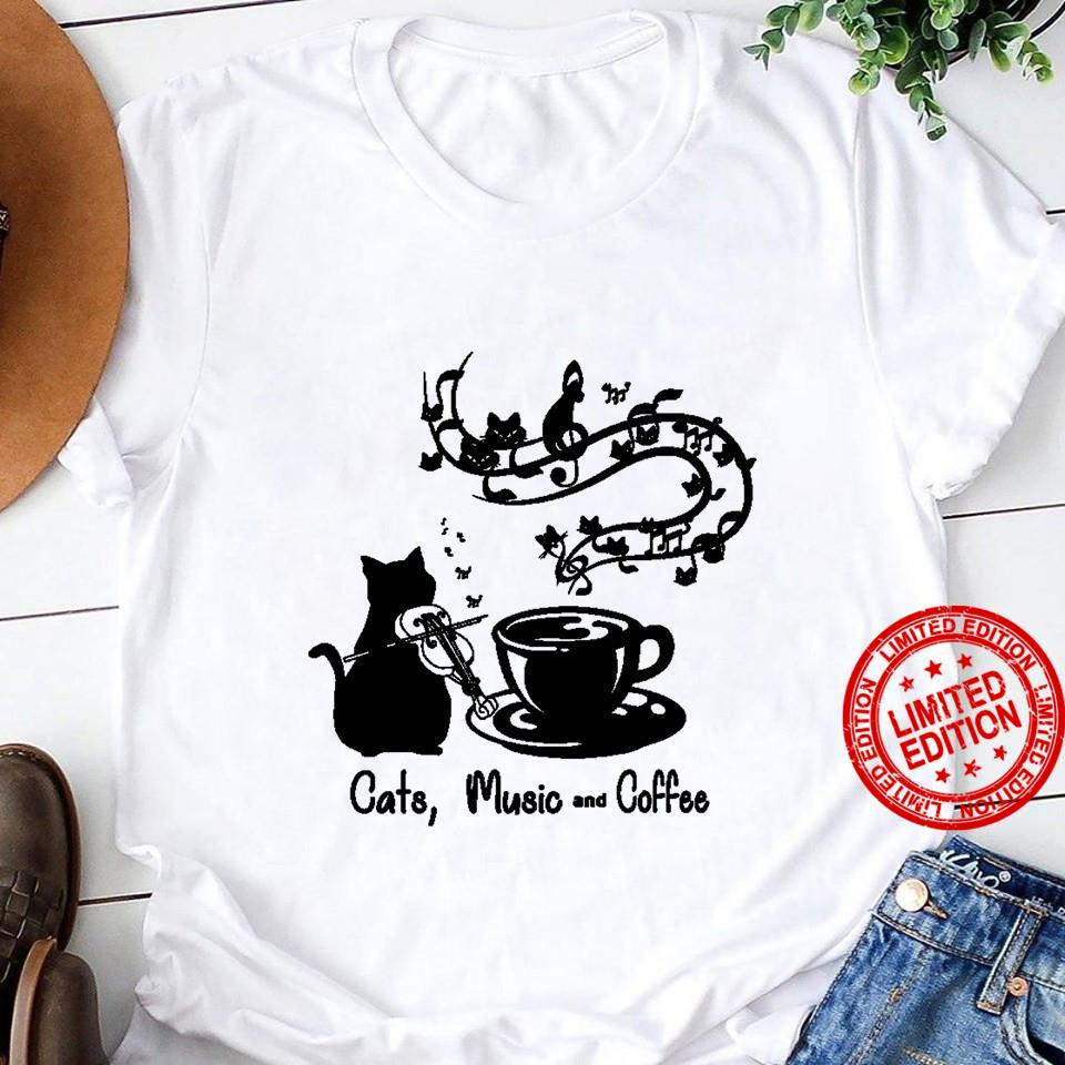Cats Music And Coffee Shirt