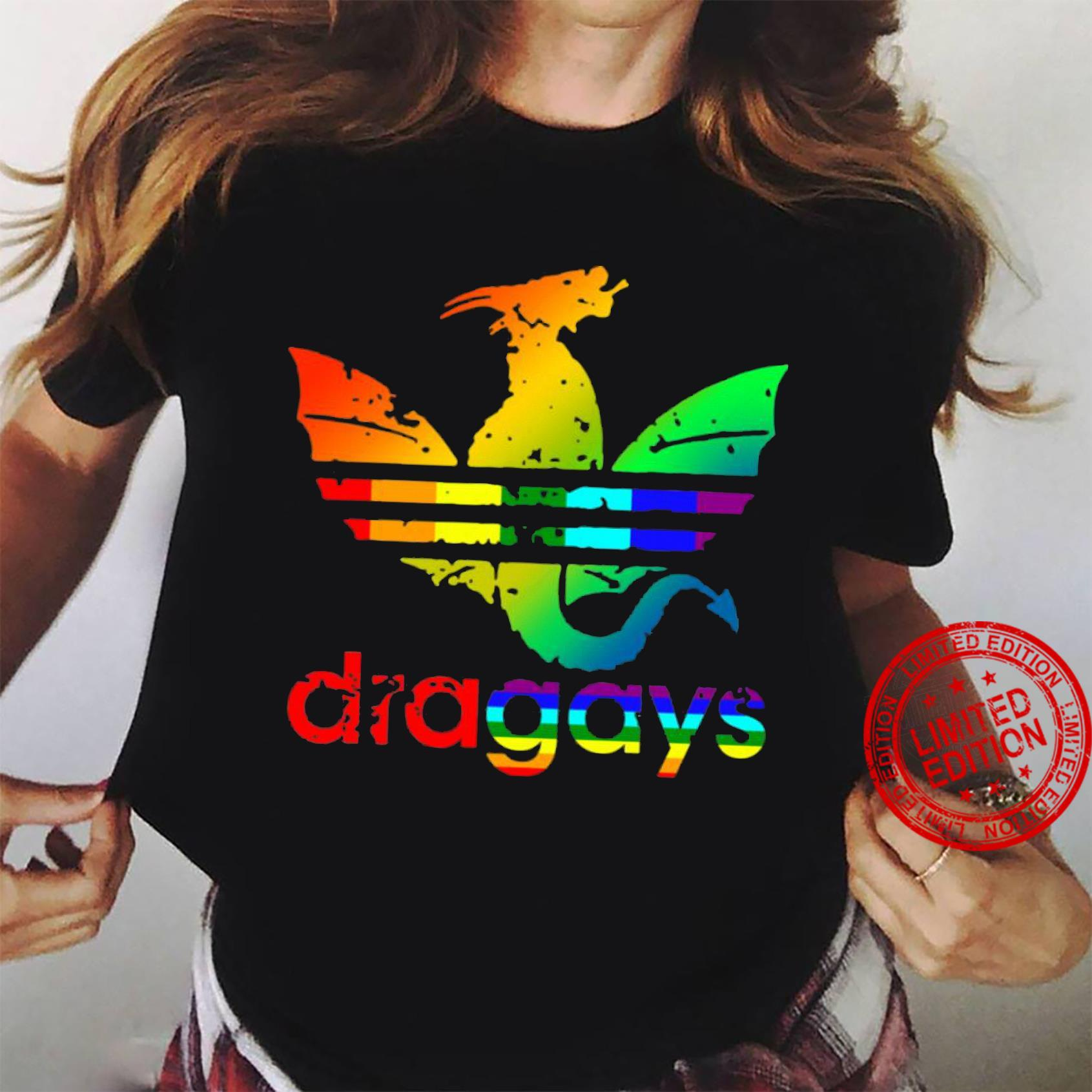 Dragays LGBT Dragon Shirt ladies tee