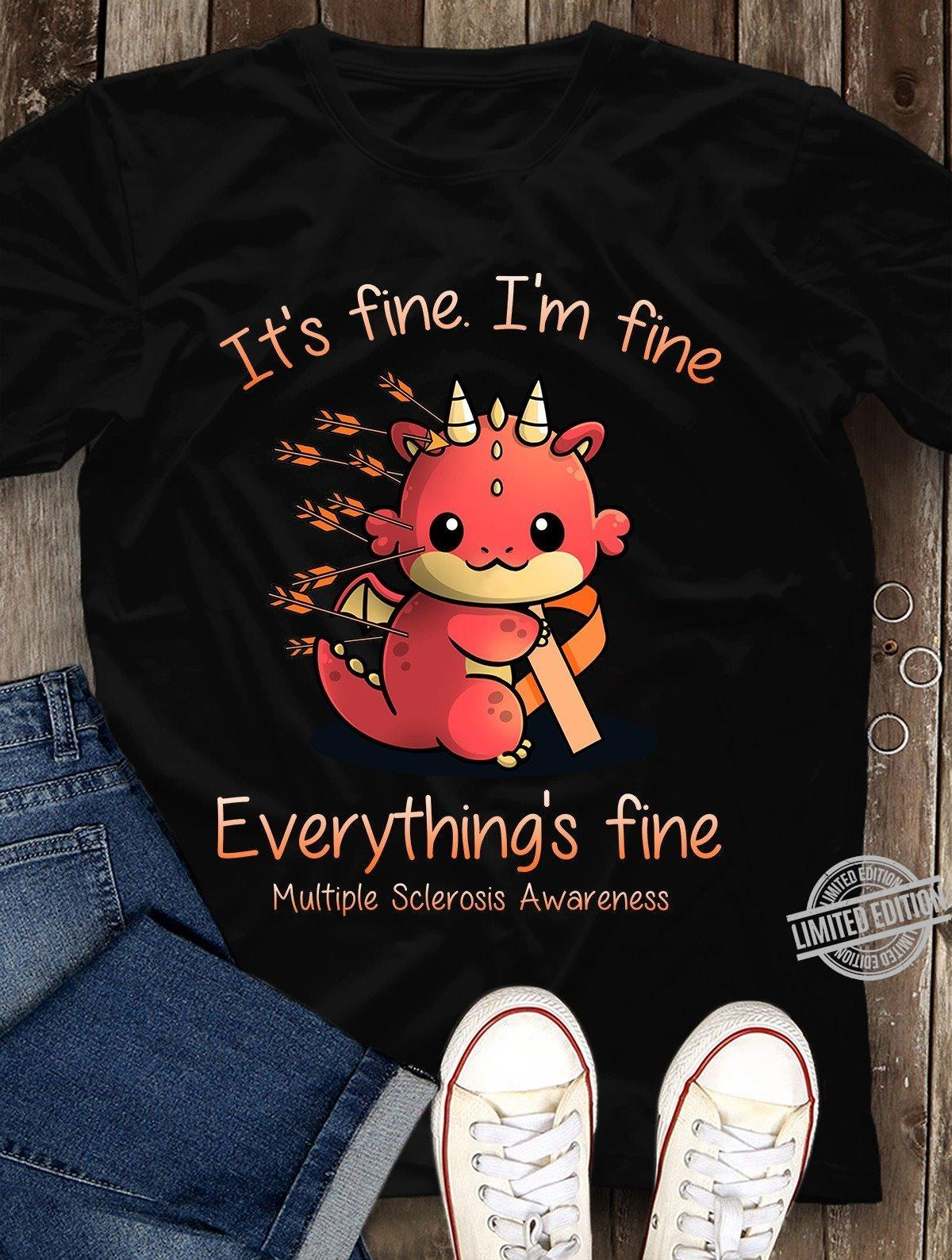 Dungeons and Dragon It's Fine I'm Fine Everything's Fine Shirt
