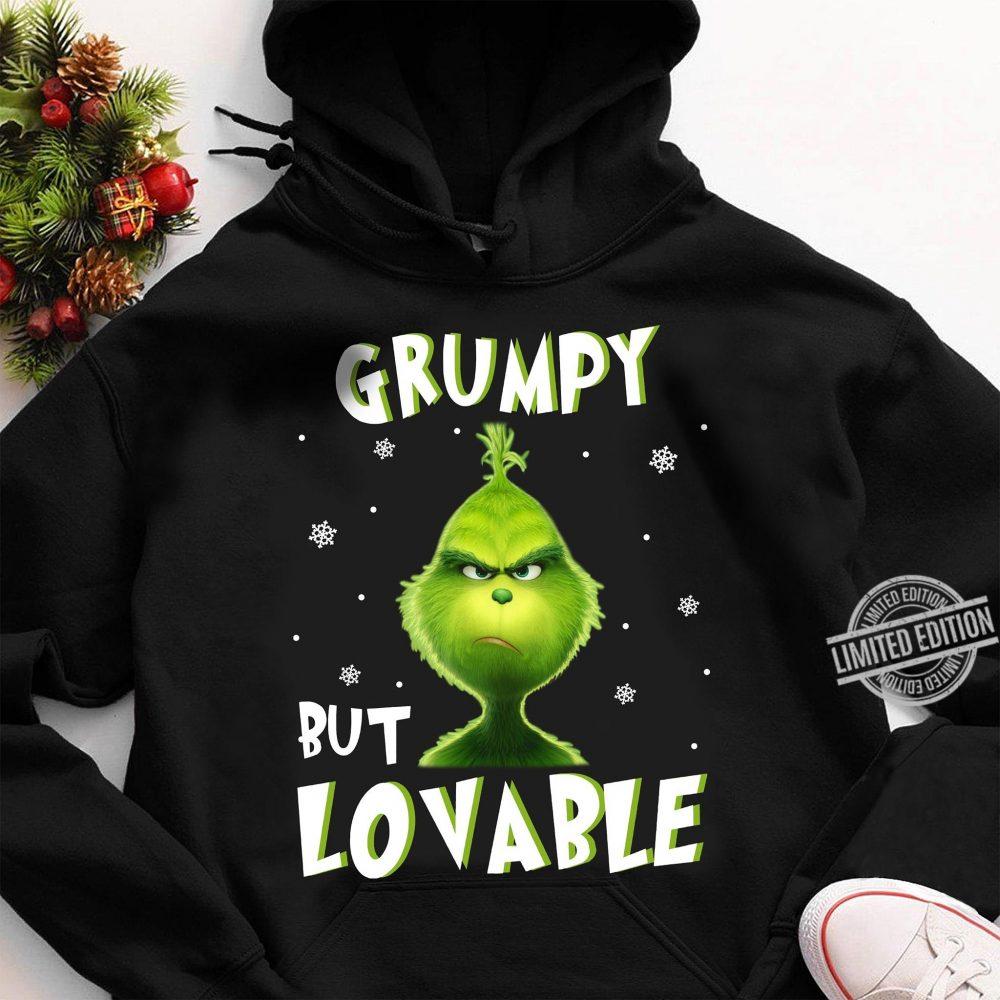 Grumpy But Lovable Grinch Christmas Shirt