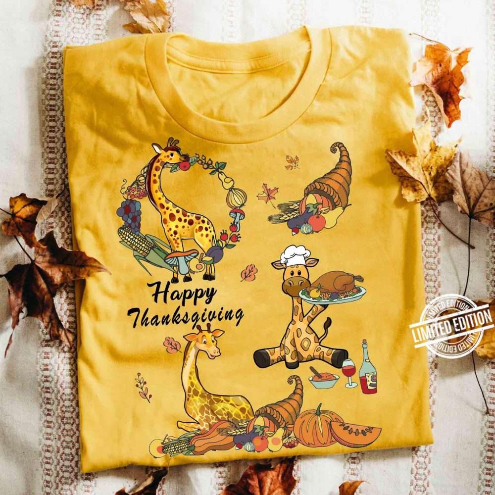 Happy Thanksgiving With Animal Shirt
