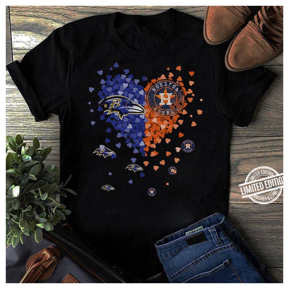 RAVENS Houston Astros It's in my heart Shirt