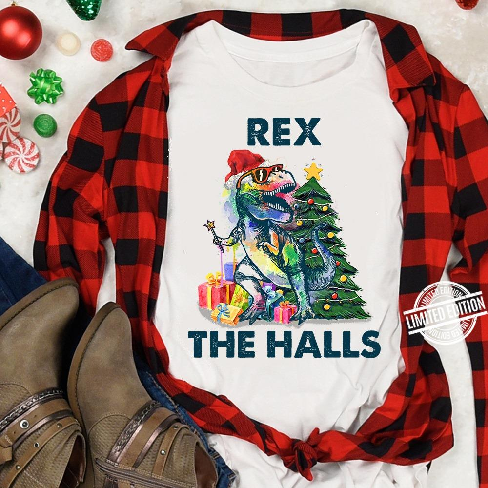 Rex The Halls Trex Christmas Tree Shirt