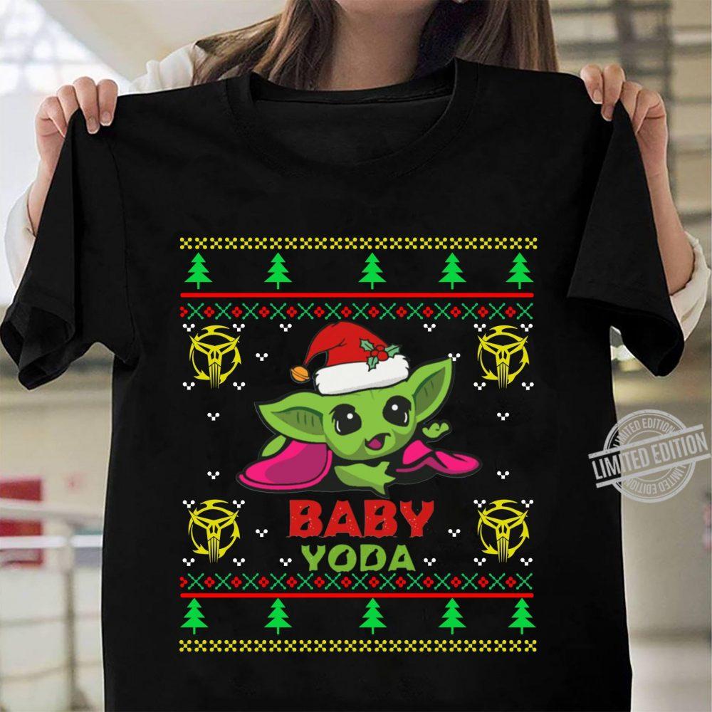 Santa Baby Yoda Merry Christmas Shirt