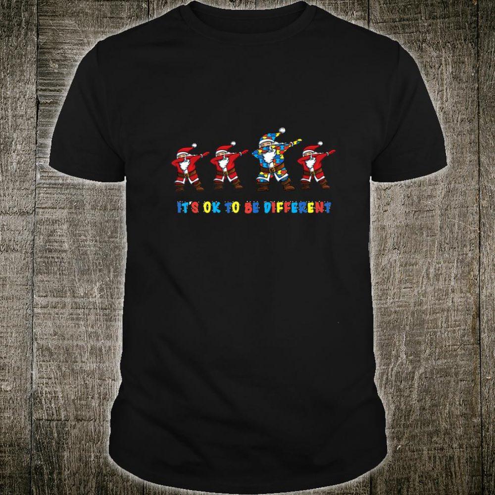 Santa Dabbing Autism Awareness Christmas Shirt