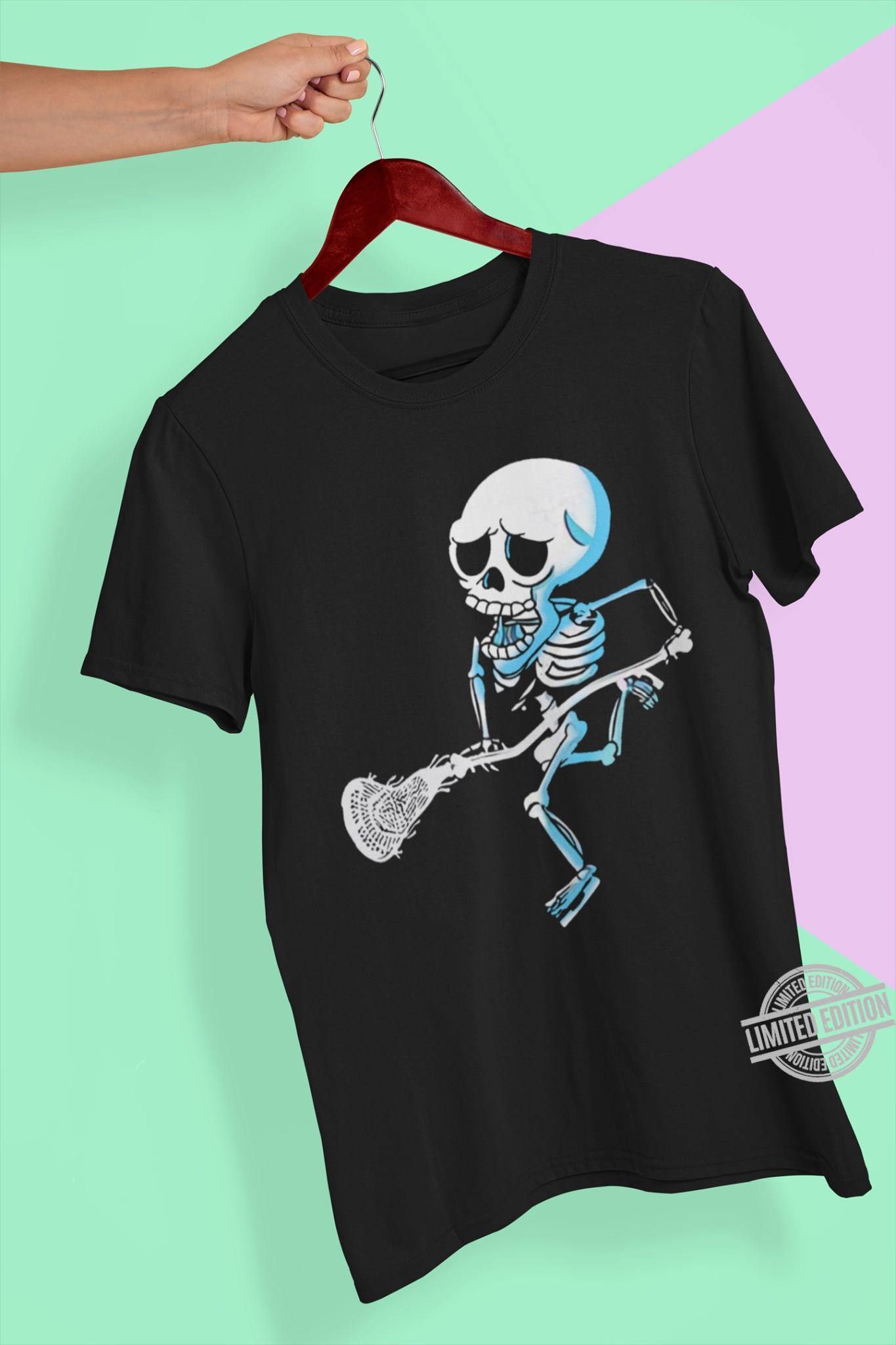 Skeleton Play Lacrosse Shirt