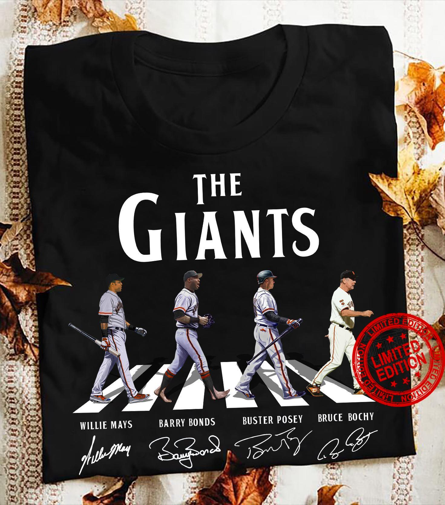 The Giants Willie Mays Barry Bonds Buster Posey Bruce Bochy Shirt