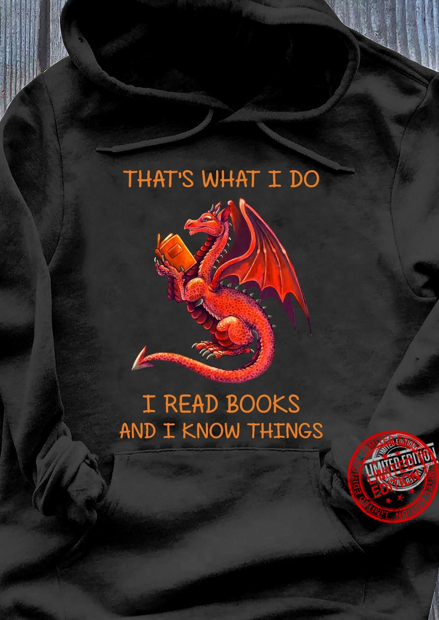 The Red Dragon Read Books Shirt