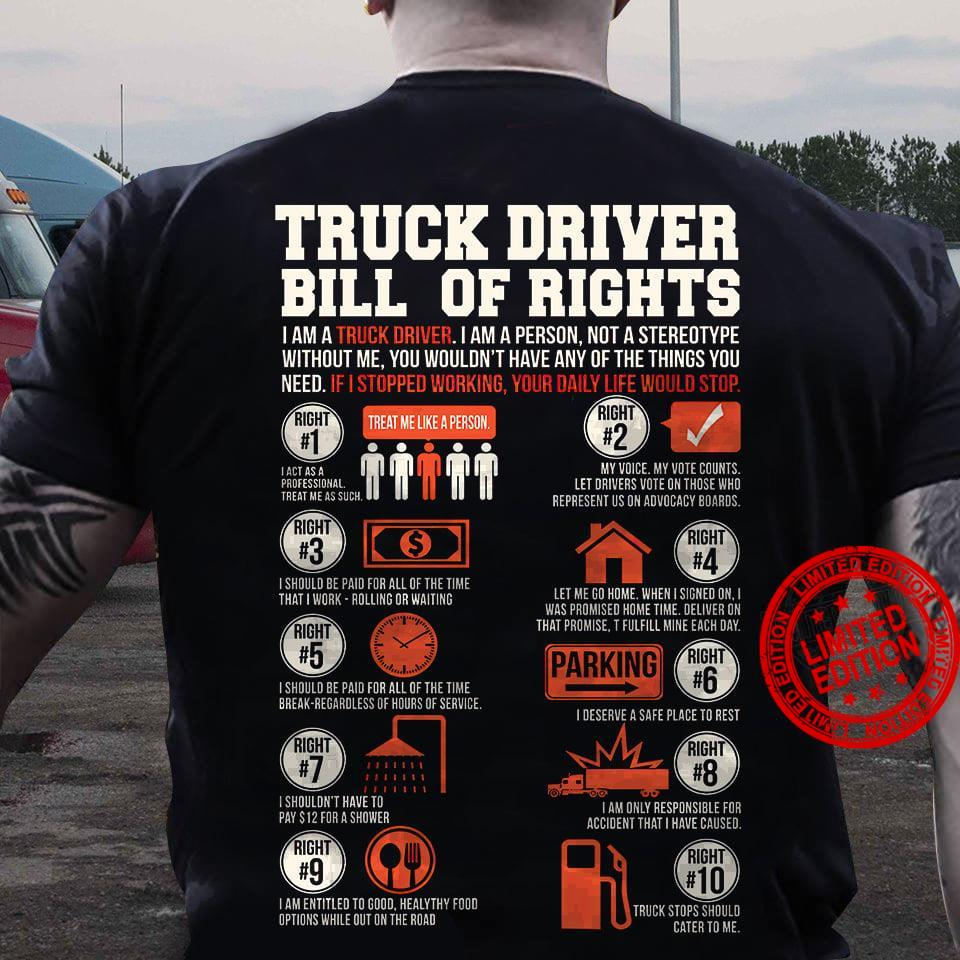 Truck Driver Bill Of Rights Shirt