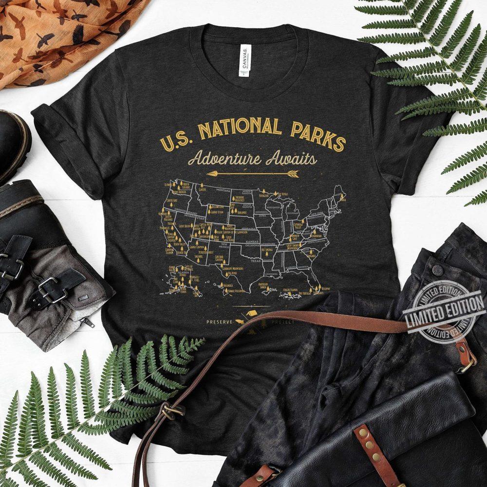 US National Parls Adventure Awaits Shirt
